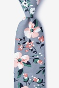 Gray Cotton Holden Extra Long Tie