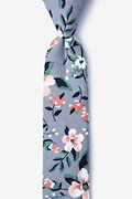 Gray Cotton Holden Skinny Tie