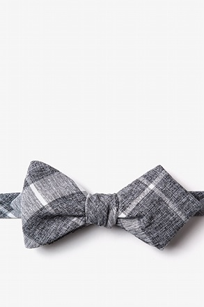Kirkland Gray Diamond Tip Bow Tie