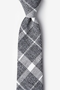 Gray Cotton Kirkland Extra Long Tie