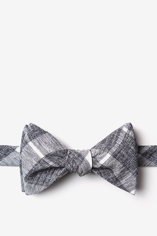 Kirkland Gray Self-Tie Bow Tie Photo (0)
