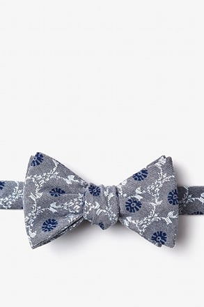 _La Grande Gray Self-Tie Bow Tie_