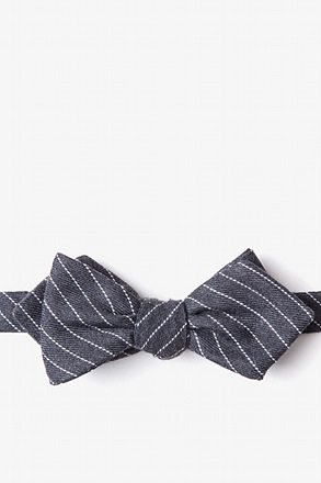 Lewisville Gray Diamond Tip Bow Tie