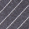 Gray Cotton Lewisville Extra Long Tie