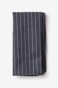 Gray Cotton Lewisville Pocket Square