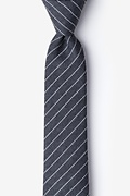 Gray Cotton Lewisville Skinny Tie