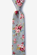 Gray Cotton Luther Skinny Tie