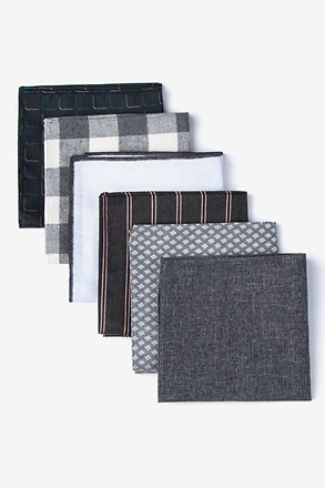 Mixed Grays Pocket Square Pack