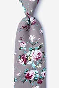 Gray Cotton Nottingham Tie