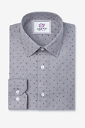 Percy Gray Classic Fit Untuckable Dress Shirt Photo (0)