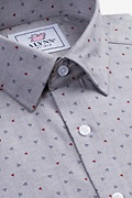 Percy Gray Classic Fit Untuckable Dress Shirt Photo (2)