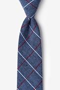 Gray Cotton Phoenix Extra Long Tie