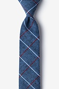 Gray Cotton Phoenix Skinny Tie