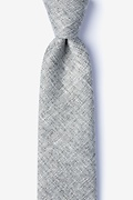 Gray Cotton Port Extra Long Tie