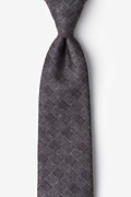 Gray Cotton Prescott Extra Long Tie