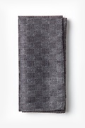 Gray Cotton Prescott Pocket Square
