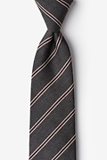 Gray Cotton Seagoville Extra Long Tie