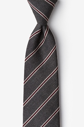 Seagoville Gray Extra Long Tie