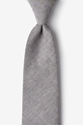 Gray Cotton Teague Extra Long Tie