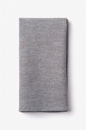 Teague Gray Pocket Square