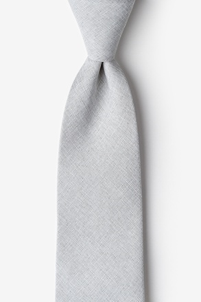 _Tioga Gray Extra Long Tie_