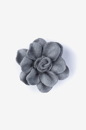 Begonia Gray Lapel Pin