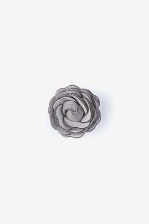 Mini Flower Gray Lapel Pin