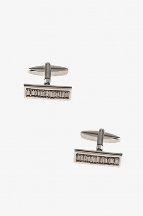 Bejeweled Bar Gray Cufflinks