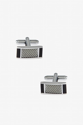 Futuristic Rectangle Gray Cufflinks