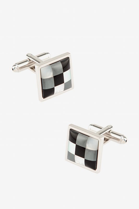 Pixels Square Cufflinks Photo (0)