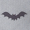 Gray Microfiber Bats Self-Tie Bow Tie