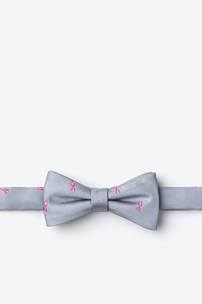 Breast Cancer Ribbon Bow Tie For Boys