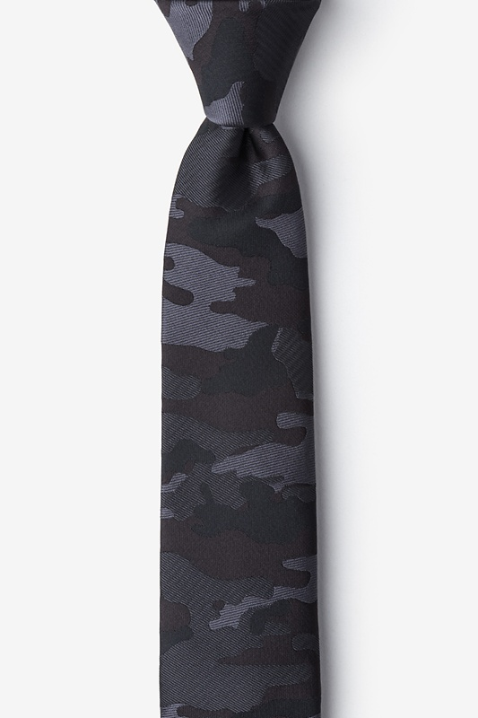 Camouflage Woodland Gray Skinny Tie Photo (0)