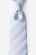 Gray Microfiber Jefferson Stripe Extra Long Tie