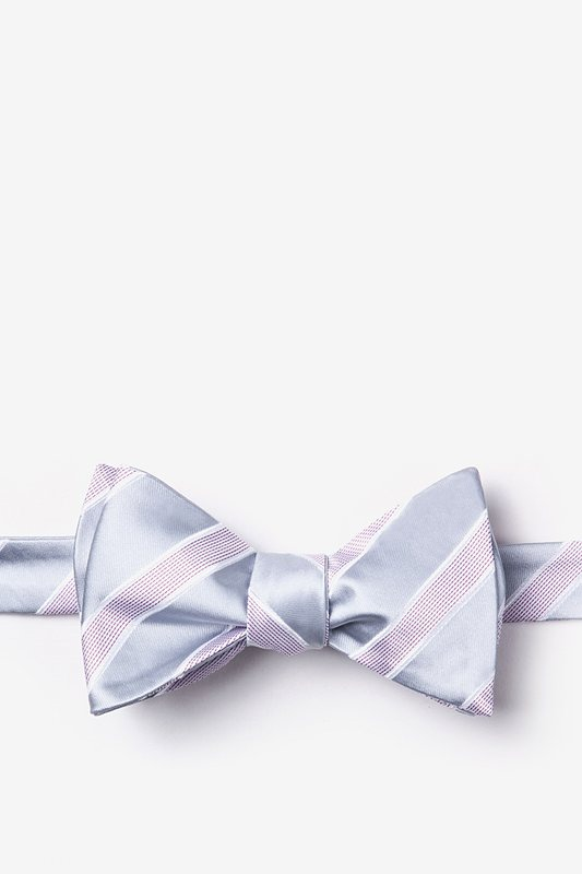 Jefferson Stripe Gray Self-Tie Bow Tie Photo (0)
