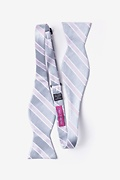 Jefferson Stripe Gray Self-Tie Bow Tie Photo (1)