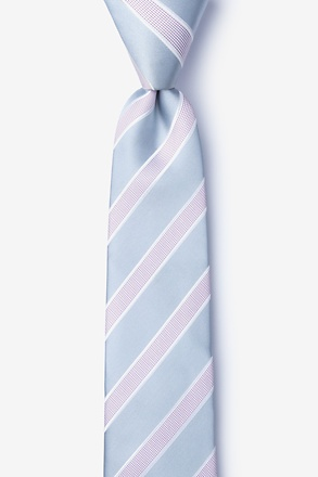 _Jefferson Stripe Gray Skinny Tie_