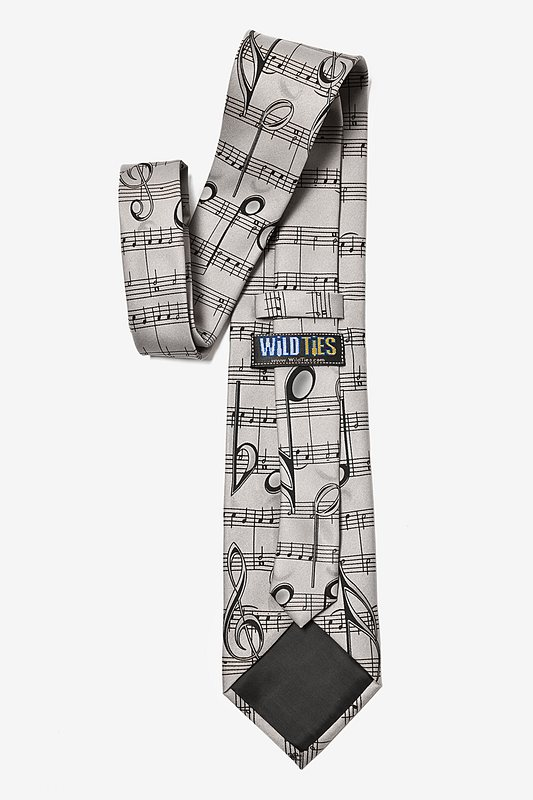 Music Notes Gray Tie Photo (2)