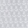 Gray Microfiber Small Anchors Extra Long Tie