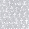 Gray Microfiber Small Anchors Skinny Tie