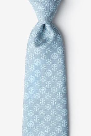 _Snowflakes Gray Extra Long Tie_