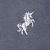 Gray Microfiber Unicorns Tie