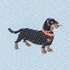 Gray Microfiber Weiner Dogs Bow Tie