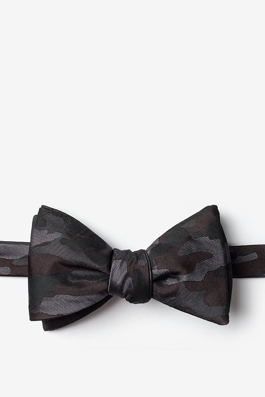 Woodland Camo Gray Self-Tie Bow Tie Photo (0)