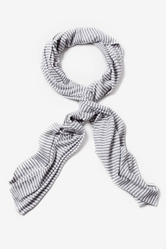 Mens Candy Stripe Gray Scarf