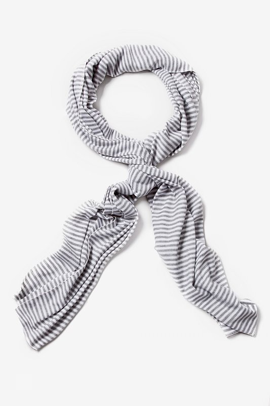 Mens Candy Stripe Gray Scarf Photo (0)