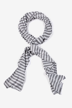 Mens Traveling Stripe Gray Scarf