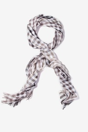 Gray Polyester Party Check Scarf