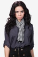 Gray Polyester Traveling Stripe Scarf