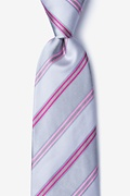 Gray Silk Abbert Extra Long Tie